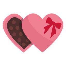 Valentine chocolate flat