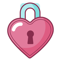 Valentine colored lock