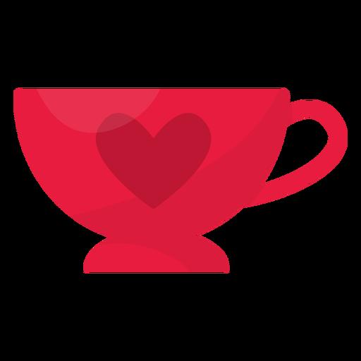 Valentine cup flat