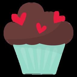 Valentine cupcake flat