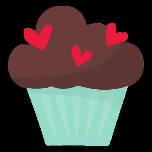 Cupcake de San Valentín plano Transparent PNG