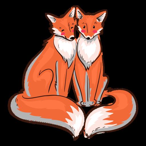Valentine Füchse süß
