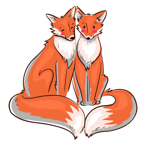 Valentine raposas fofas