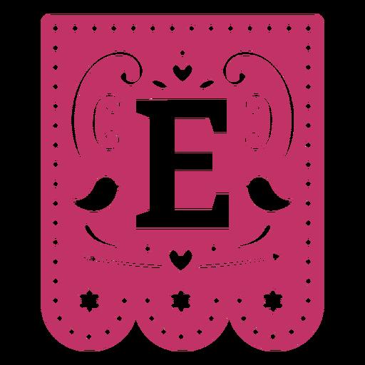 Valentine garland papercut e