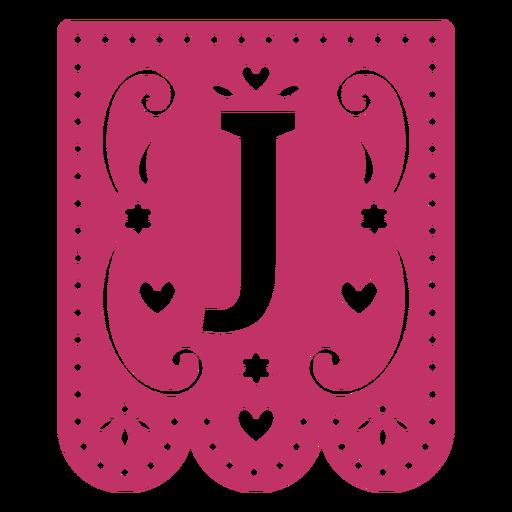 Valentine garland papercut j