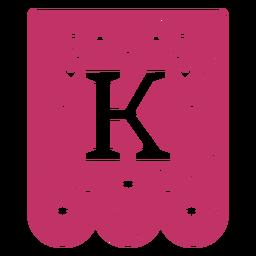 Valentine garland papercut k