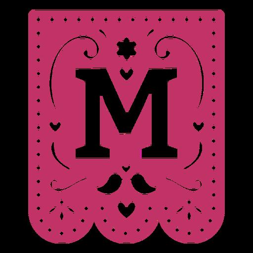 Valentine garland papercut m
