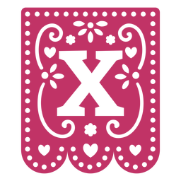 Valentine garland papercut x
