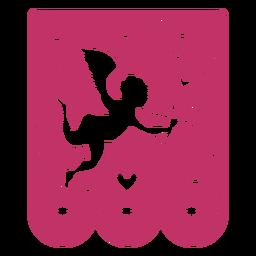 Valentine guirnalda papercut cupido