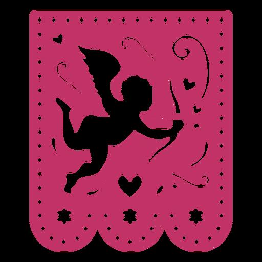 Valentine guirnalda papercut cupido Transparent PNG