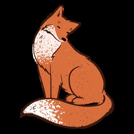 Valentine happy fox