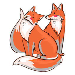 Feliz raposas dos namorados