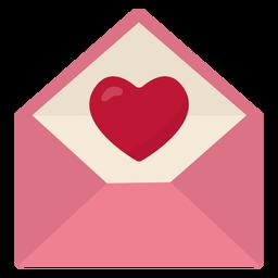 Carta de San Valentín plana