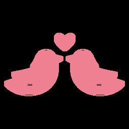 Valentine love birds pink