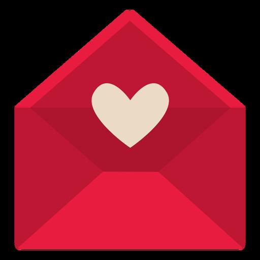 Valentine red letter flat