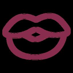 Lábios simples dos namorados