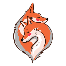 Valentim aconchegando raposas