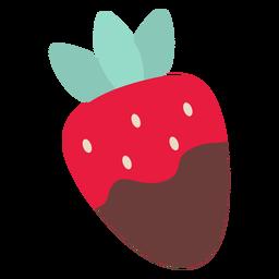 Chocolate dos namorados morango plana