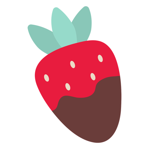 Valentine strawberry chocolate flat