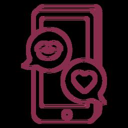 Valentine texting mobile