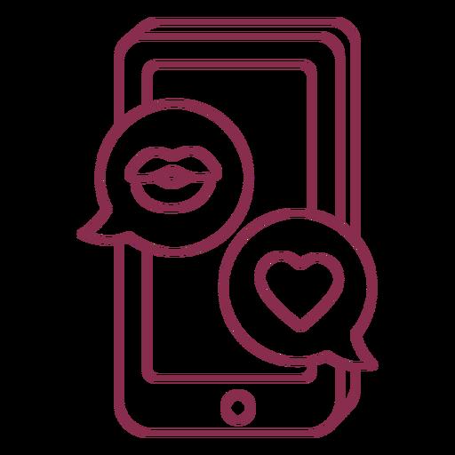 Valentine texting mobile Transparent PNG