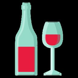 San Valentín vino plano