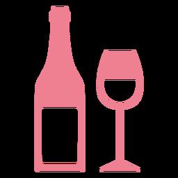 San Valentín rosa vino