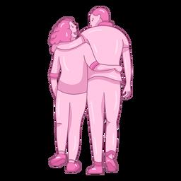 Caminando juntos pareja plana