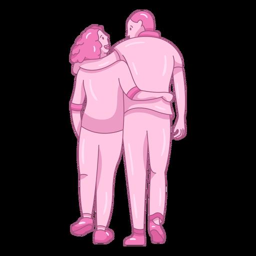 Caminando juntos pareja plana Transparent PNG
