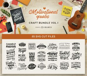 Motivational Quotes Craft Bundle Vol I