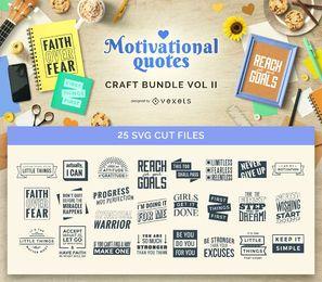 Citações inspiradores Craft Bundle Vol II