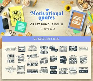 Motivational Quotes Craft Bundle Vol II