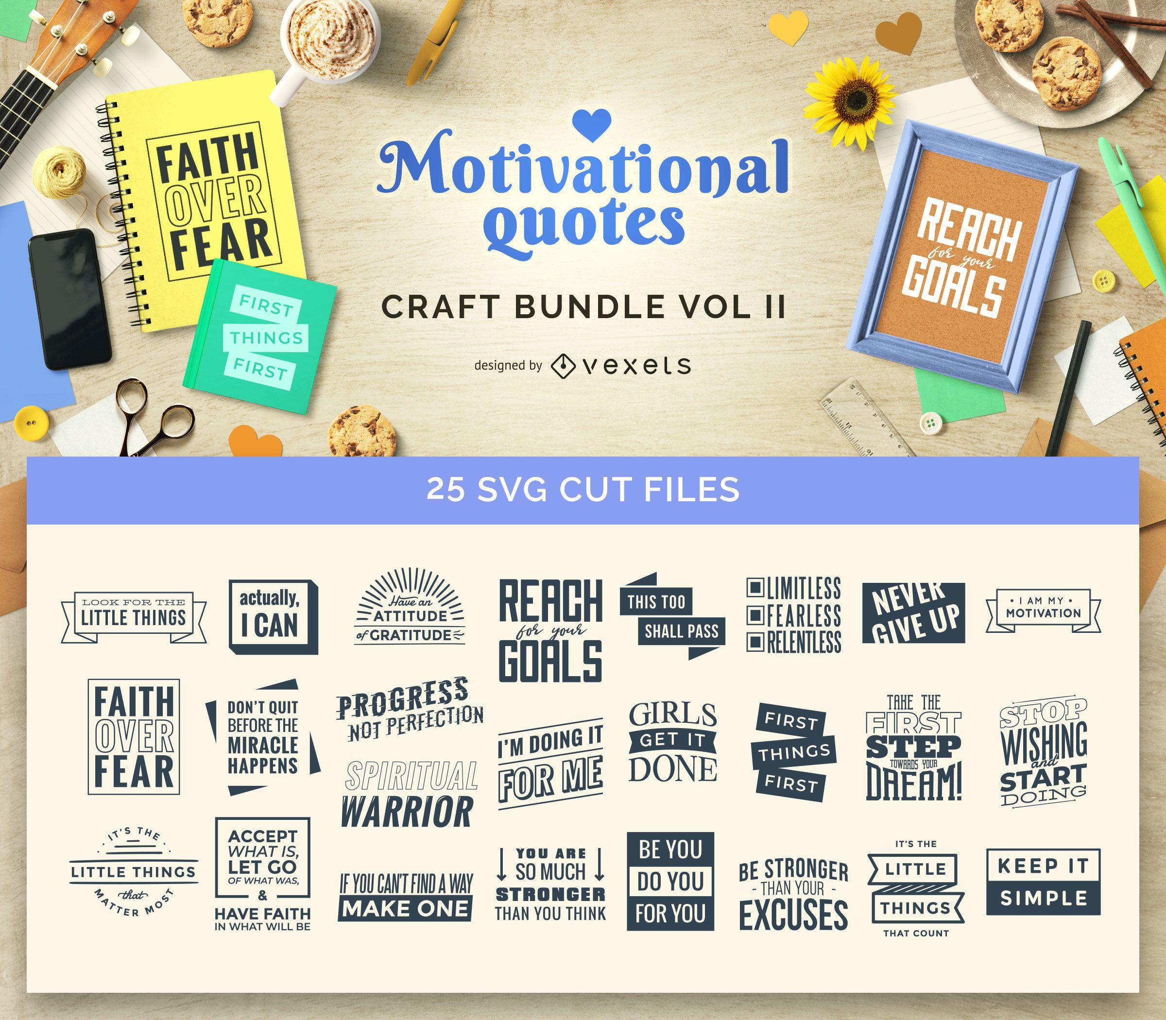 Motivational Quotes Craft Bundle Vol II