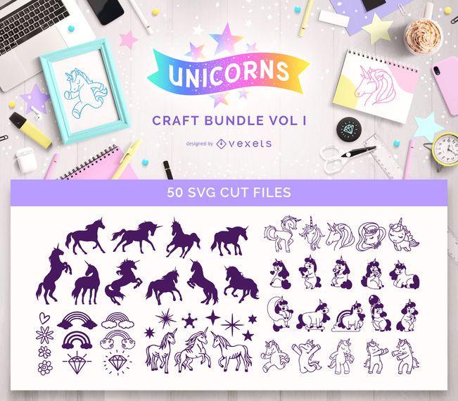 Paquete de manualidades de unicornio Vol I