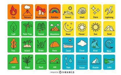 Pacote de Design de Cartão de Memória Nature Color