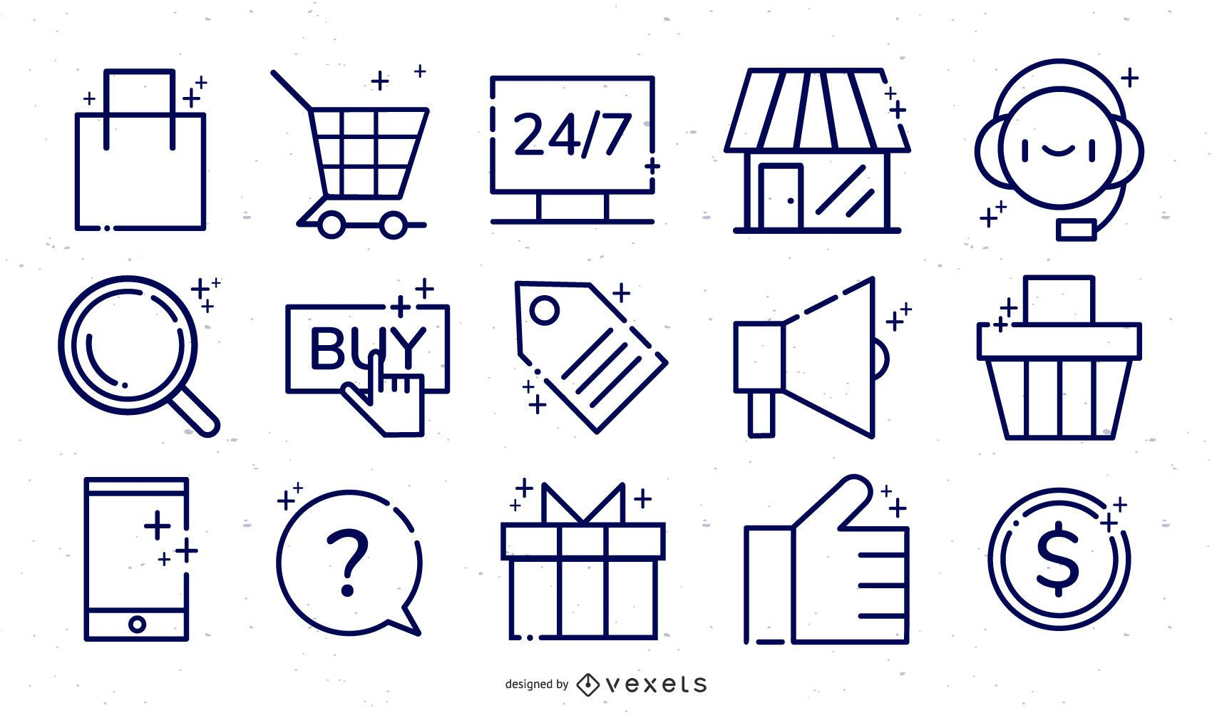 Online-Shop E-Commerce-Icon-Set