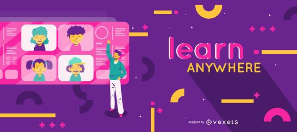Learn anywhere education slider template