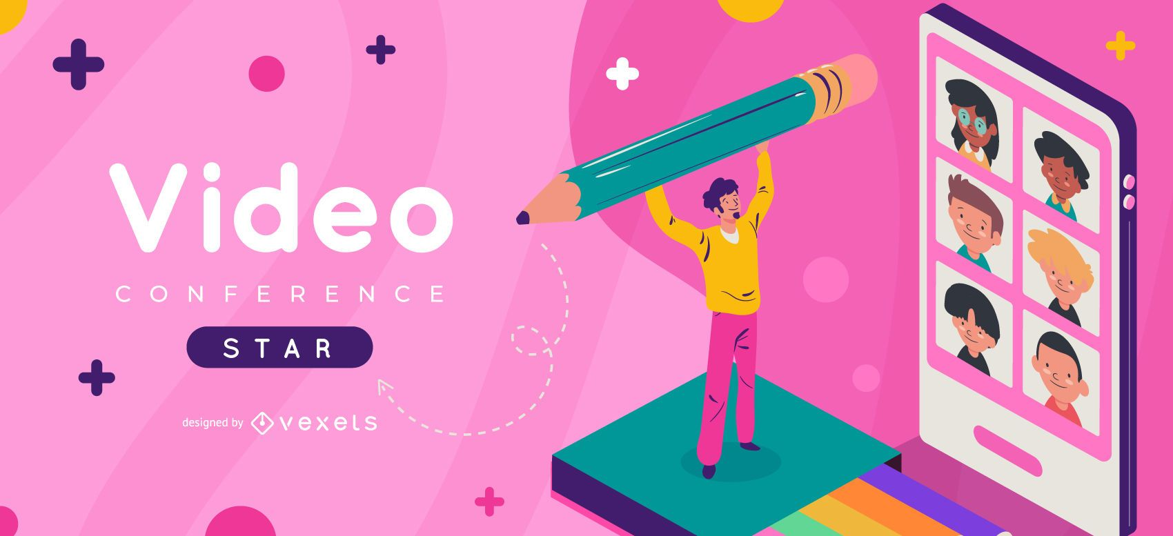 Video conference school slider template