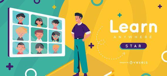 Plantilla de control deslizante para niños Aprender en cualquier lugar