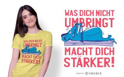Diseño divertido de la camiseta alemana del entrenamiento del ratón
