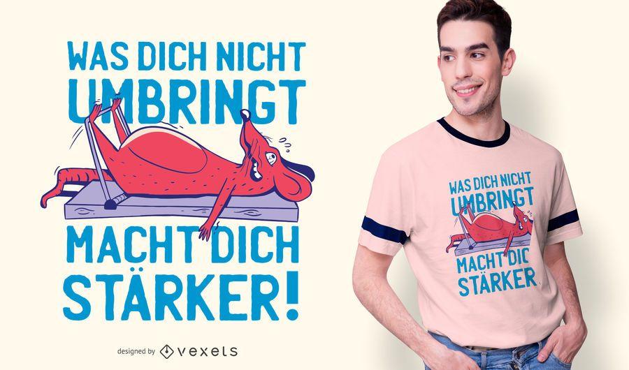 Leg Workout Funny German T-shirt Design