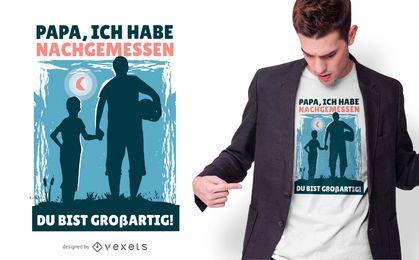 Design alemão do t-shirt do pai e do filho