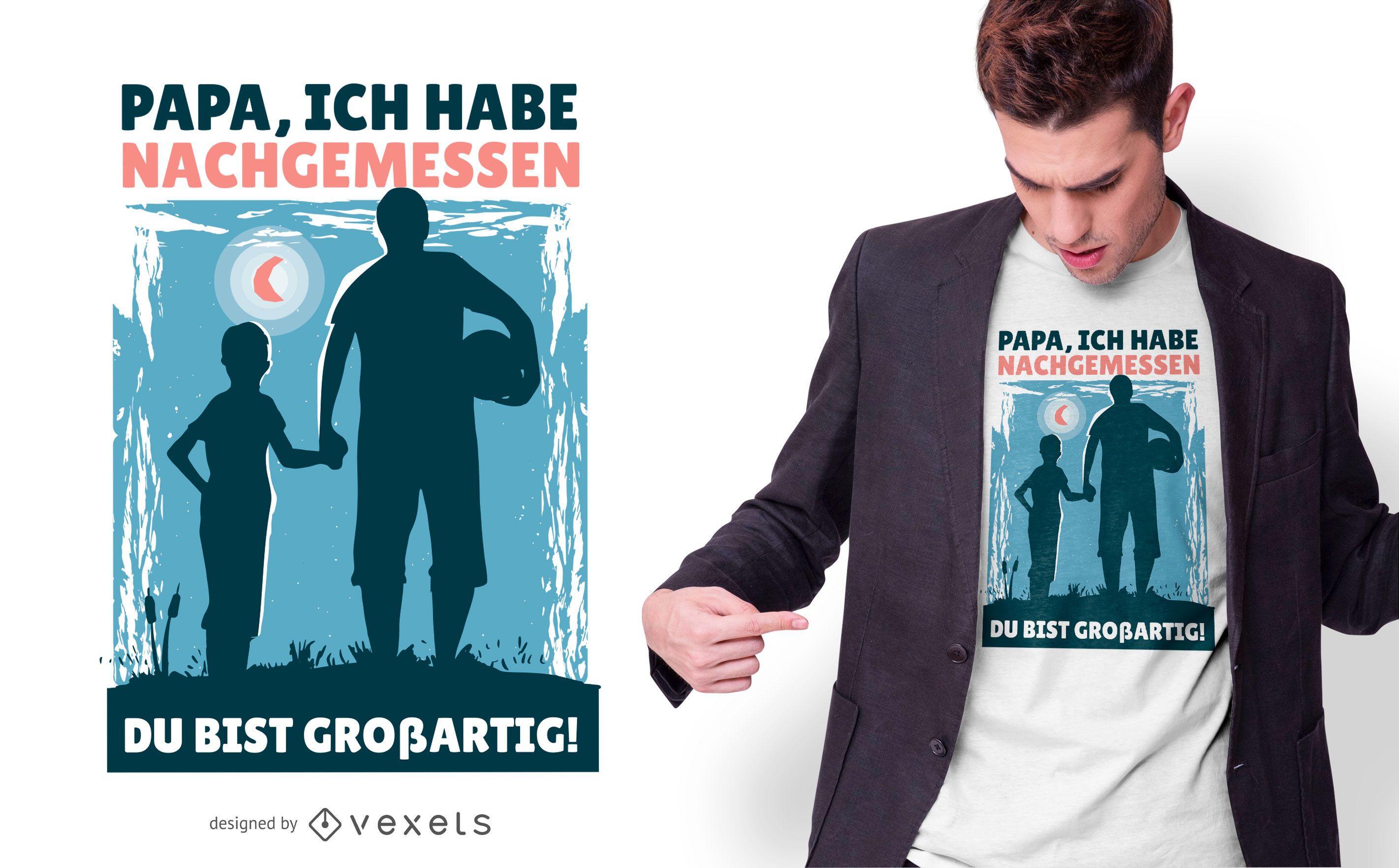 Design alemão de camisetas para pai e filho