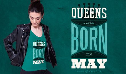 Queens are Born Quote T-shirt Design