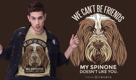 Diseño de camiseta de texto de perro Spinone