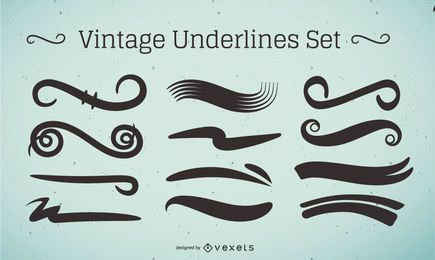 Vintage Underline Stroke Set