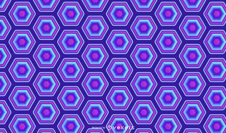 Design de padrão de néon azul hexagonal