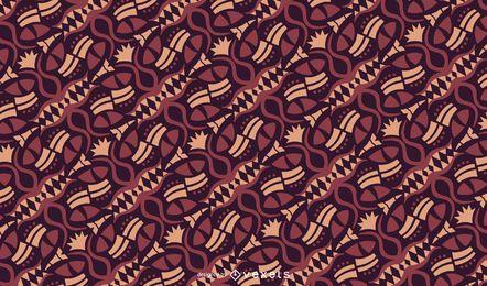Diseño de patrón de motivo tribal