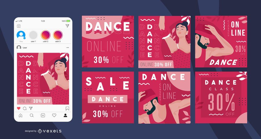 Dance online social media posts