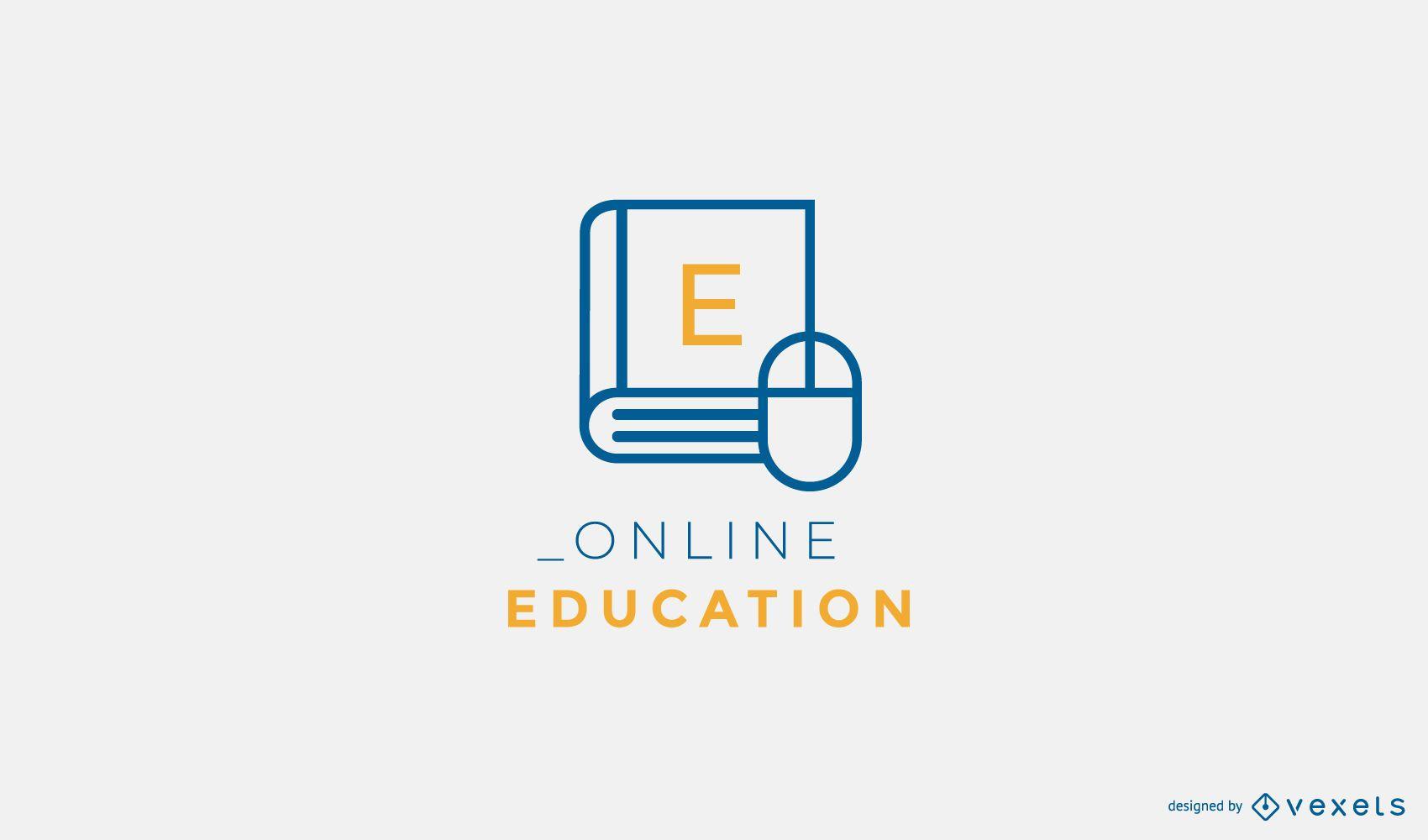 Diseño de logo de educación online